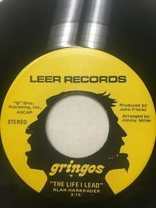 "Gringos 45 7"" record.."" Funky Lady "" / "" The Life I lead """