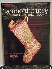OOP Christmas Stocking Cross Stitch Pattern Round The Tree Rocking Horse