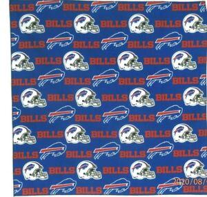 "Bandanna for Buffalo Bills on Blue 100% Cotton #239 Handmade 22"" X 22"""