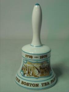 "Hammersley 1773-1973 BOSTON TEA PARTY Liberty Bell Nice ""Ringing"" Tone"