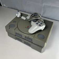 Lot Of 2 Sony PlayStation 1's Gray Video Game Consoles NTSC (SCPH-7501) & Other