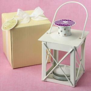 10-70 Personalized Ivory Candle Lantern Outdoor Wedding Shower Party Favors