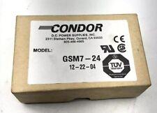 New listing New Condor Gsm7-24 D.C. Power Supplies Nib 24 Vdc Output 100-240 Vac Input