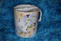 Vintage White & Blue & Purple Floral Pattern Tea Strainer Cup Mug