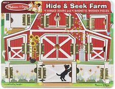 Three Melissa & Doug Puzzles HIDE& SEEK, SAFARI AND SEA CREATURES