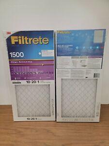 """3M Filtrete 1500 Series Virus Allergen Air Filter, 10"""" x 20"""", 12 ct New Sealed"""