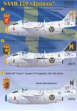Print Scale Decals 1/72 SAAB J-29 TUNNAN Swedish Jet Fighter