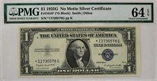 1935 G NO MOTTO SILVER CERTIFICATE $1 STAR NOTE FR1616* PMG 64 CH UNC EPQ (578G)