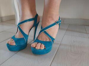 Scarpe sandali ISLO tg 39 tacco alto molto usate 100% vera pelle sexy