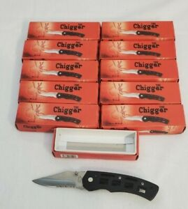 Lot of 11 Frost Cutlery The Chigger Folding Knife Pocket Clip New in Box