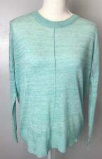 Subtle-Luxury Women Long Sleeve Shirt Green/Gray Size S/M