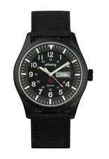 Infantry Mens Wrist Watch Luminous Nite Military Black