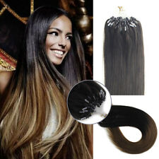 """1g/s Double Drawn Micro Ring Beads Loop Tip Remy Human Hair Extensions 16""""-22"""""""