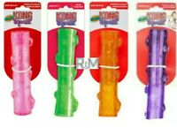 KONG® Crackle Squeezz® Sticks - SET OF (4) ASSORTED - MEDIUM Dog Chew Toy/Fetch