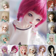 Straight Hair Do any Pose Hair Doll Wig for 1/3 1/4 1/6 1/8 1/12 BJD Doll Girl