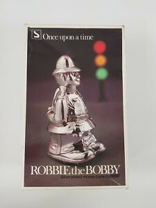 Robbie the Bobby Policeman Silver Plated Money Piggy bank Collectable Vintage