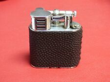 Dunhill Unique Sports Petrol Lighter-Globetrotter Leather - Rhodium Plated Trim