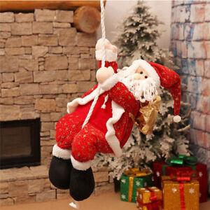 40cm Santa Claus Toy Climbing Rope Outdoor Christmas Home Garden Decoration UK