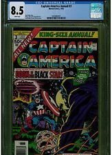 CAPTAIN AMERICA ANNUAL #3 CGC 8.5 WHITE PAGES 1976 JACK KIRBY MARVEL BLUE LABEL