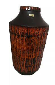 Fat Lava Vase XXL 70s 70er keramik West Germany 212-45 Carstens