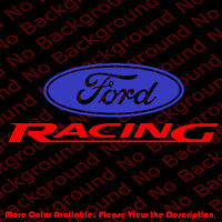 FORD RACING Mustang/No Background Die Cut Car Window Vinyl Decal Sticker FD003