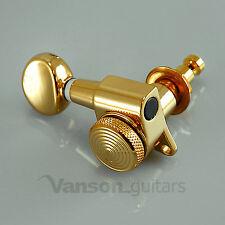 6 Gold LOCKING Tuners for Stratocaster Telecaster Strat Tele ®* guitars SP05GDLH