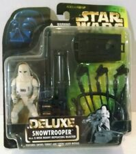 Star Wars Deluxe Snowtrooper 1996 E-Web Heavy Repeating Blaster Action Figure