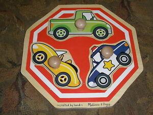 Melissa and Doug Fresh Start Stop Sign Vehicles Jumbo Knob Puzzle # 2057