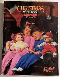 Vintage Sears Roebuck 1986 Christmas Wish Book Catalog