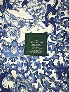 """Lauren RALPH LAUREN Blouson Valance - PORCELAIN BLUE - Blue & White 84"""" NEW!"""