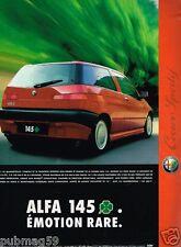Publicité Advertising 1996 Alfa Romeo Alfa 145