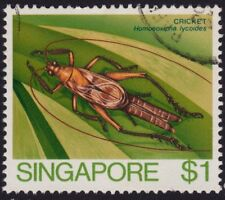 SINGAPORE 1985 $1 Insects/Crickets Isc#503 -  USED @RM553