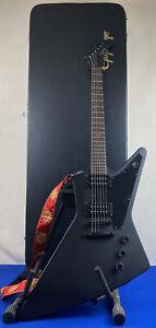 2020 Epiphone Gothic Explorer XII Black Matte 6-String Electric Guitar w/ Case