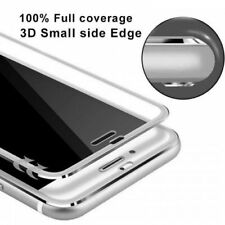 Tempered Glass Screen Protector Film 3D Curved  Edge to Edge For iPhone 8-Silver