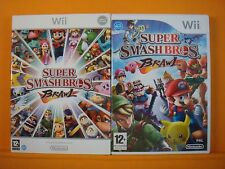 wii SUPER SMASH BROS BRAWL *x Slipcase Edition Multiplayer Fighting RARE PAL UK