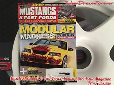 MUSCLE MUSTANG & FAST FORD AUGUST 2009 MAGAZINE GT SALEEN SUPER SHAKER COBRA