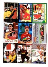 Ernie Irvan Lot of 9 Different NASCAR Trading Cards A