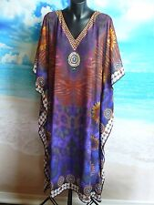 Kaftan Dress 1 Left! One Size New Beach And Summer Wear Plus Swarovski Crystals