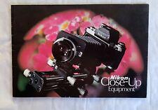 Nikon Close-up Equipment, 1975 A5 Product Brochure