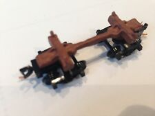 ULRICH N SCALE OLD TIME LOG CAR WITH MICRO-TRAINS BETTENDORF TRUCKS LOGGING