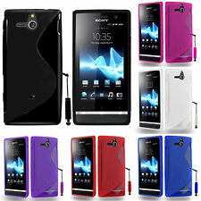Protective Cover for Sony Xperia u St25i TPU Silicone Flip Cover Bowl