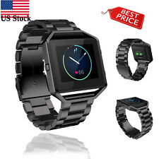 Stailess Steel Bracelet Strap Watch Band For Fitbit Blaze Smart Watch Black USPS
