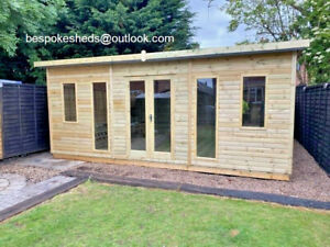 GARDEN OFFICE SUMMER HOUSE TANALISED SHED HEAVY DUTY DELIVERY 8-14 WEEKS