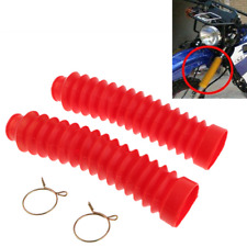 1 Pair Rubber Dust Cover Gaiters Boots Gaitors Set Fit For Motorcycle Front Fork
