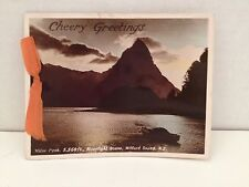 Vintage Greeting Card Photo Christmas Milford Sound New Zealand RP