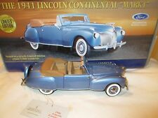 Franklin Mint 1941 Lincoln Continental Mark 1 Limited Edition 1:24 Scale Diecast