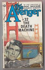 The Avenger #32 The Death Machine Kenneth Robeson Warner 74260 1975 Ron Goulart