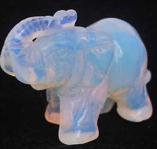 Sri Lanka Moonstone Hand Carved Elephant statue AAA+