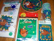 5pc Lot 1994 Beach Lion King Timon Pumba Birthday Party Goods Multi-color NOS