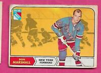 1968-69 OPC # 75 RANGERS DON MARSHALL GOOD CARD  (INV# A9296)